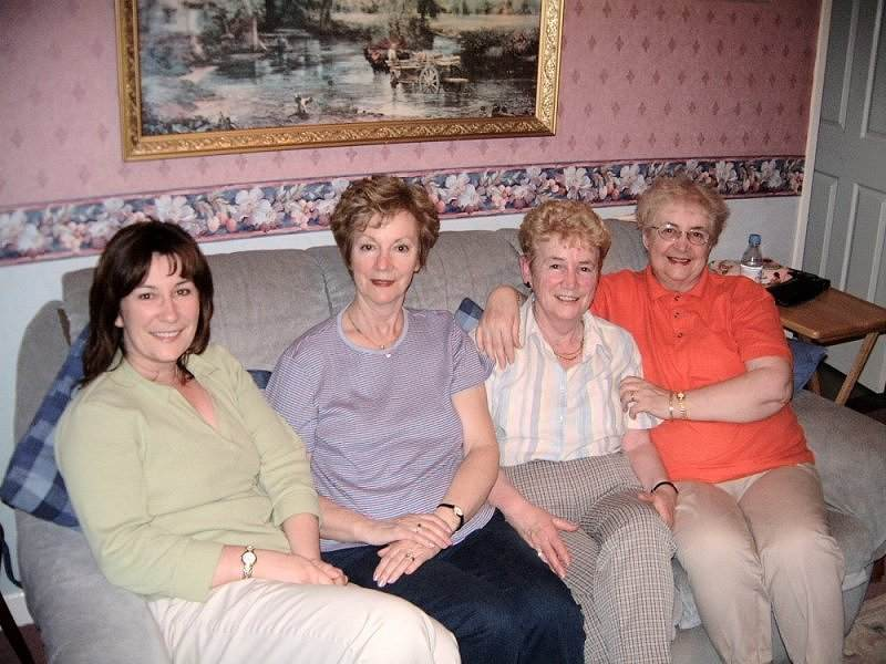 From right: Sisters Kathleen Reoch, Sadie Devlin and Maureen Magill with Maureen's daughter Laurie