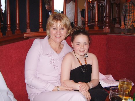 Ciara with Sponsor Margaret Cleland